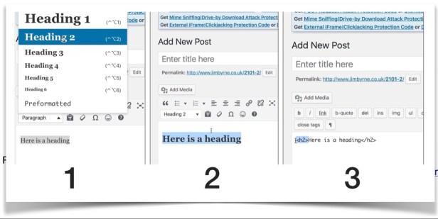 Make a WordPress Heading