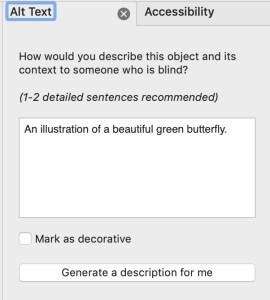 Mark as decorative text