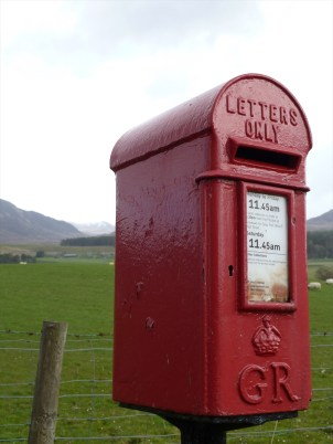Scottish Letterbox, Highlands of Scotland, bicycling Scotland, Skedaddle Daddle tours, Jim Caldwell Redondo Beach photography, Scottish Photography