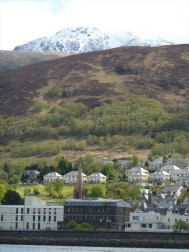Fort William Town with Ben Nevis in background