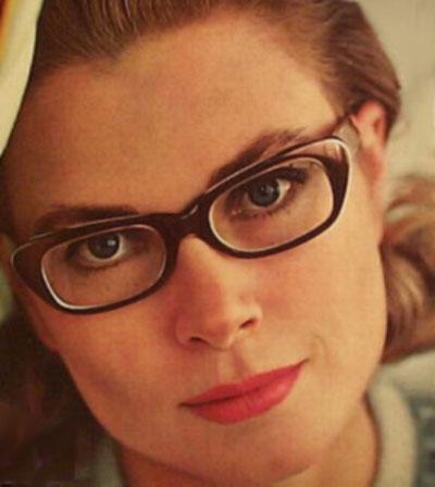 Grace Kelly in glasses