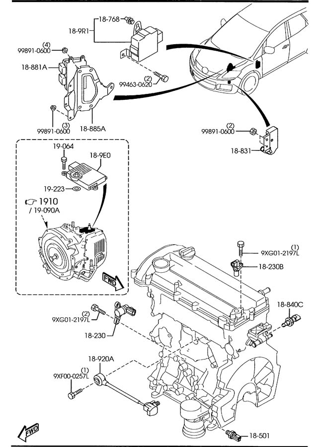 Mazda Engine Parts Diagram