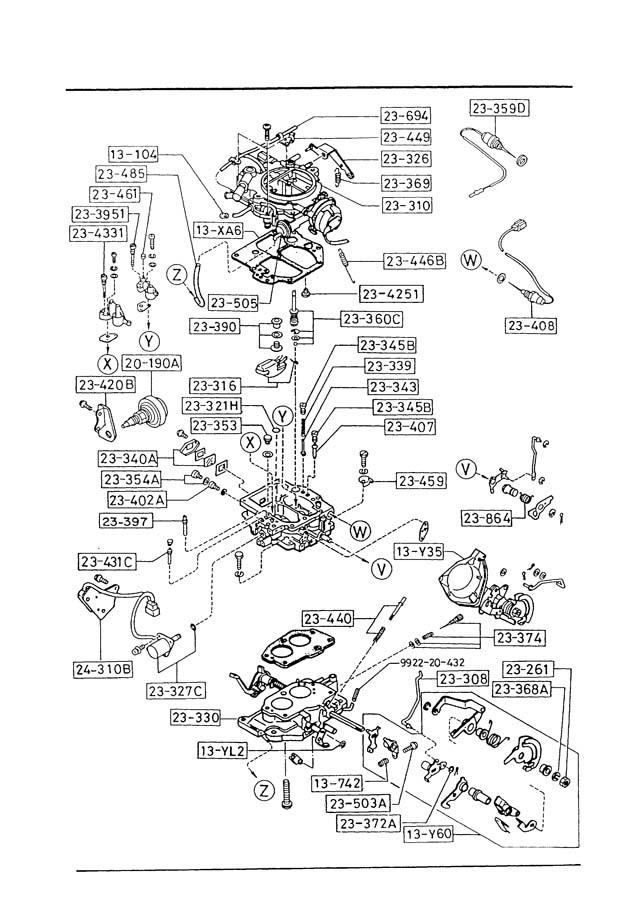1989 Mazda B2200 Carburetor Diagram
