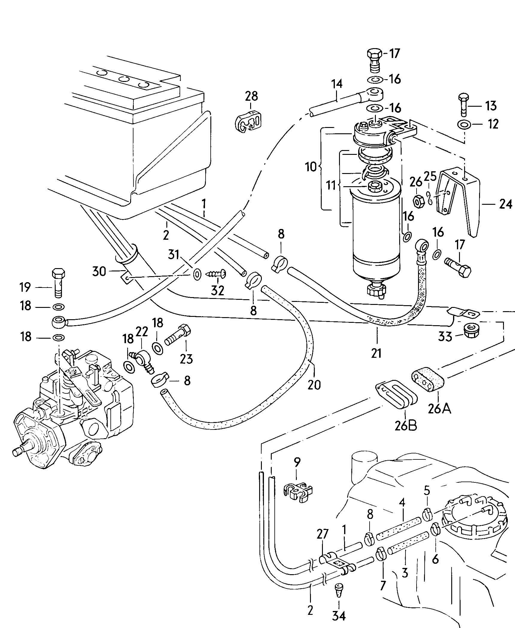 Volkswagen Quantum Fuel Line Fuel Filter