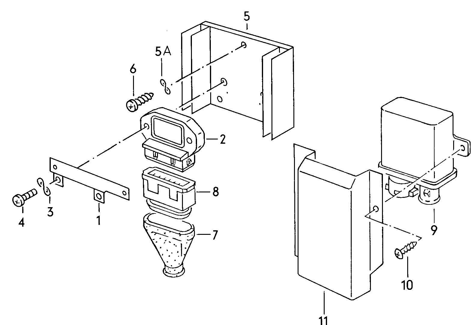 Volkswagen Quantum Transistor Coil Ignition Unit Shift Mechanism Dls Heat Dissipator