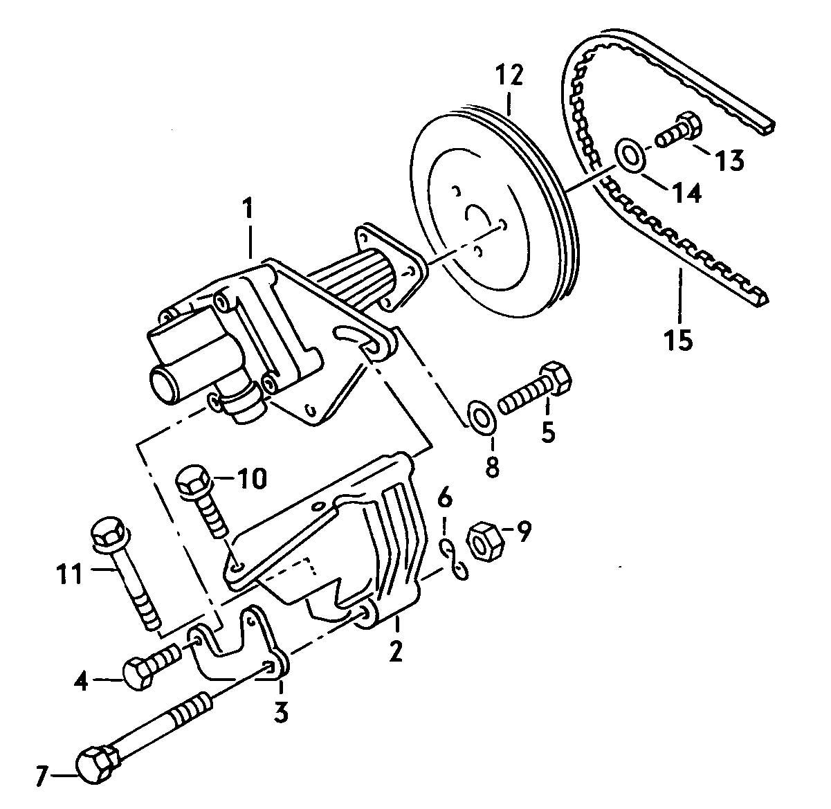 Volkswagen Vw Vanagon Hydraulic Pump For Power Steering 1 9ltr 2 1ltr