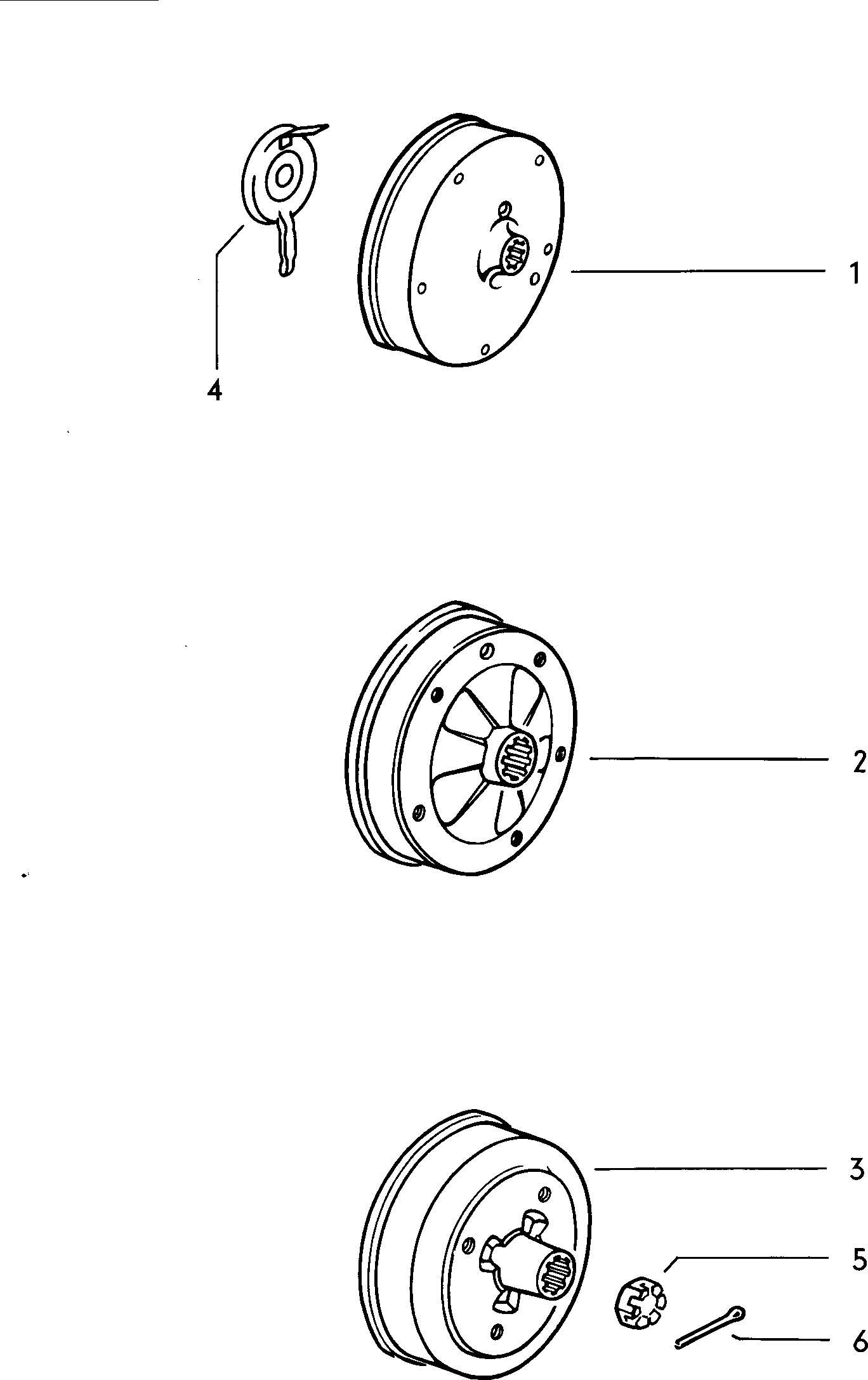 Volkswagen Beetle Brake Drum Rear