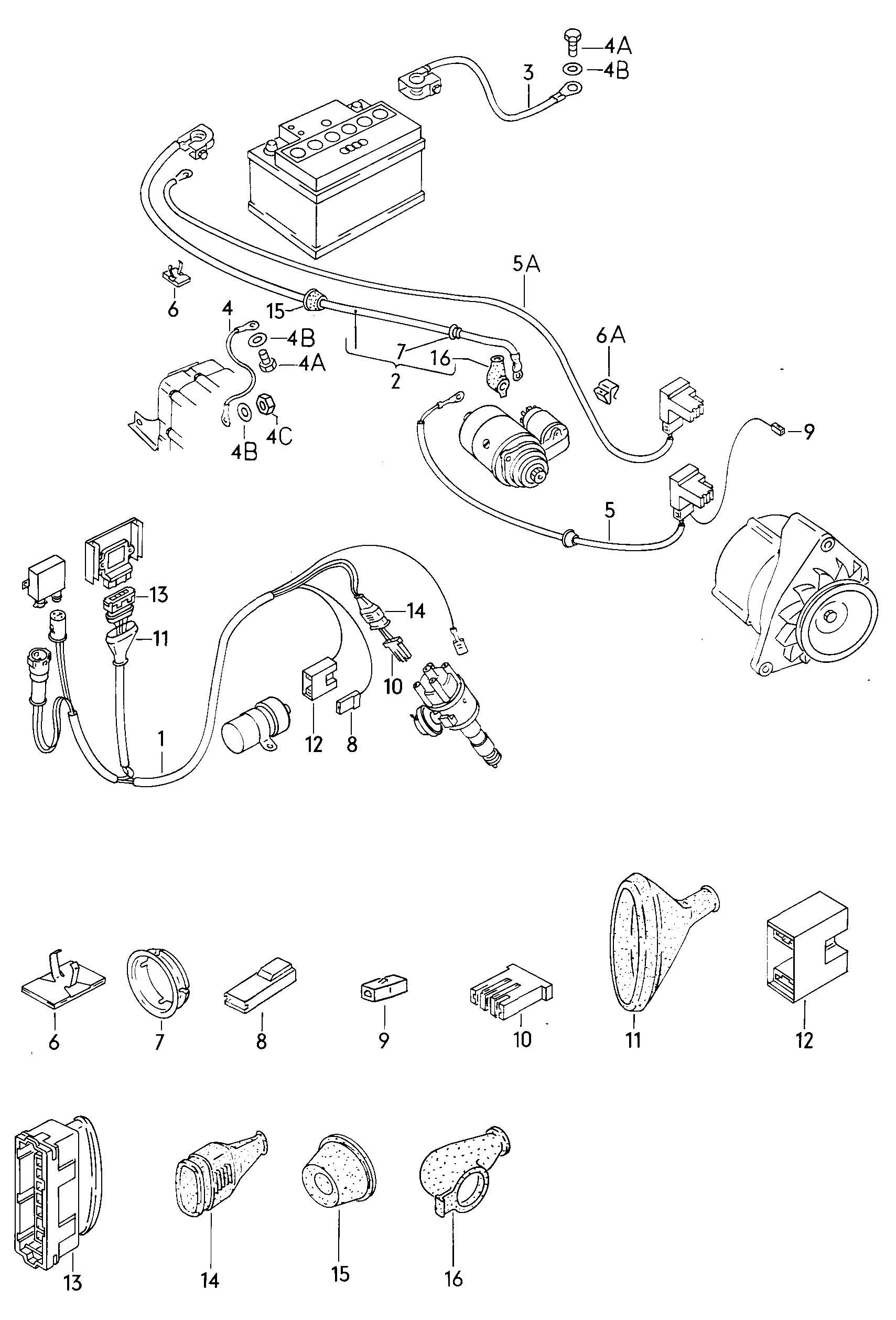 Volkswagen Vanagon 4 2l 8 Cylinder Harness For