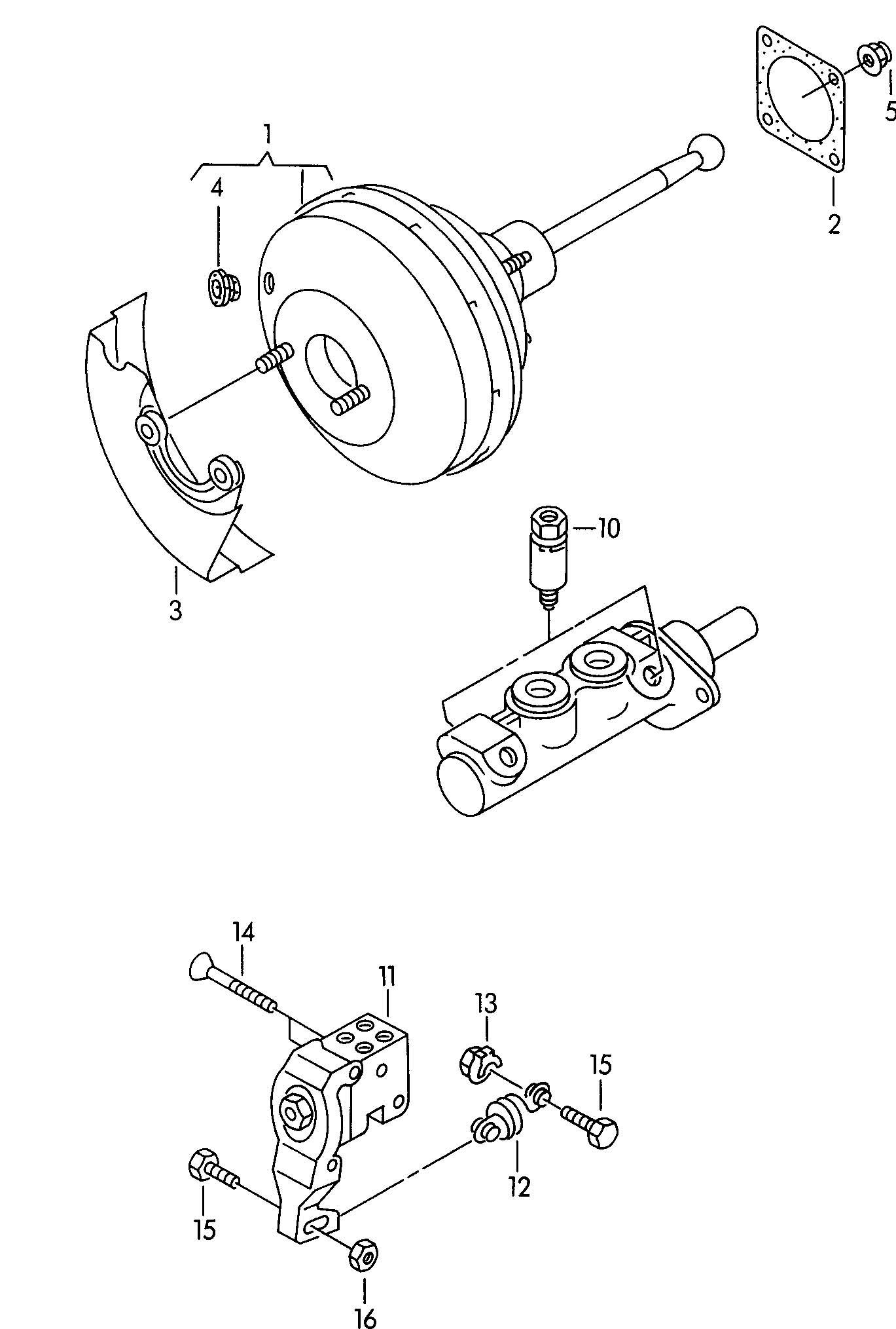 Volkswagen Golf Brake Booster Brake Pressure