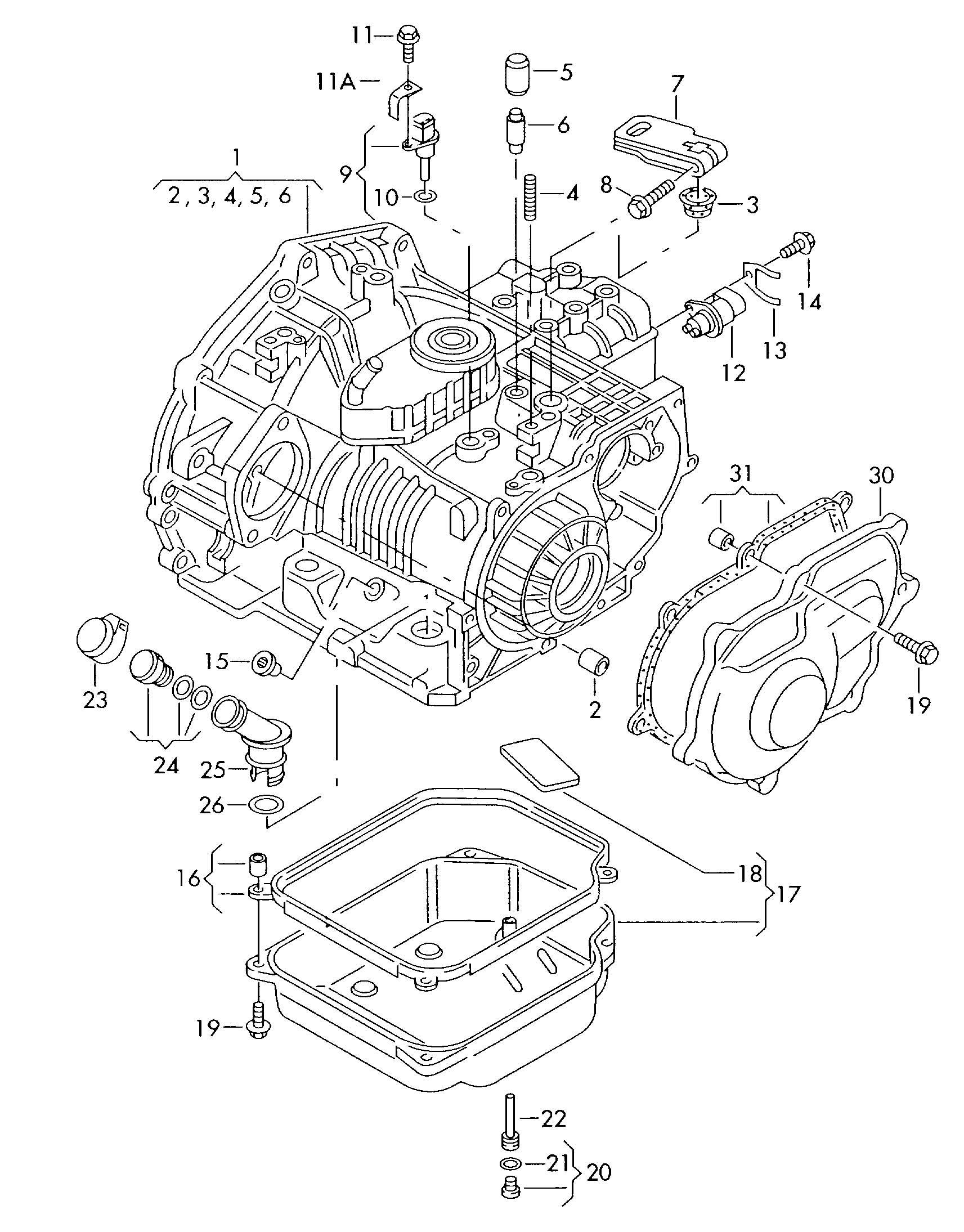 Transmission Case For 4 Speed Automatic Transm 2 0ltr