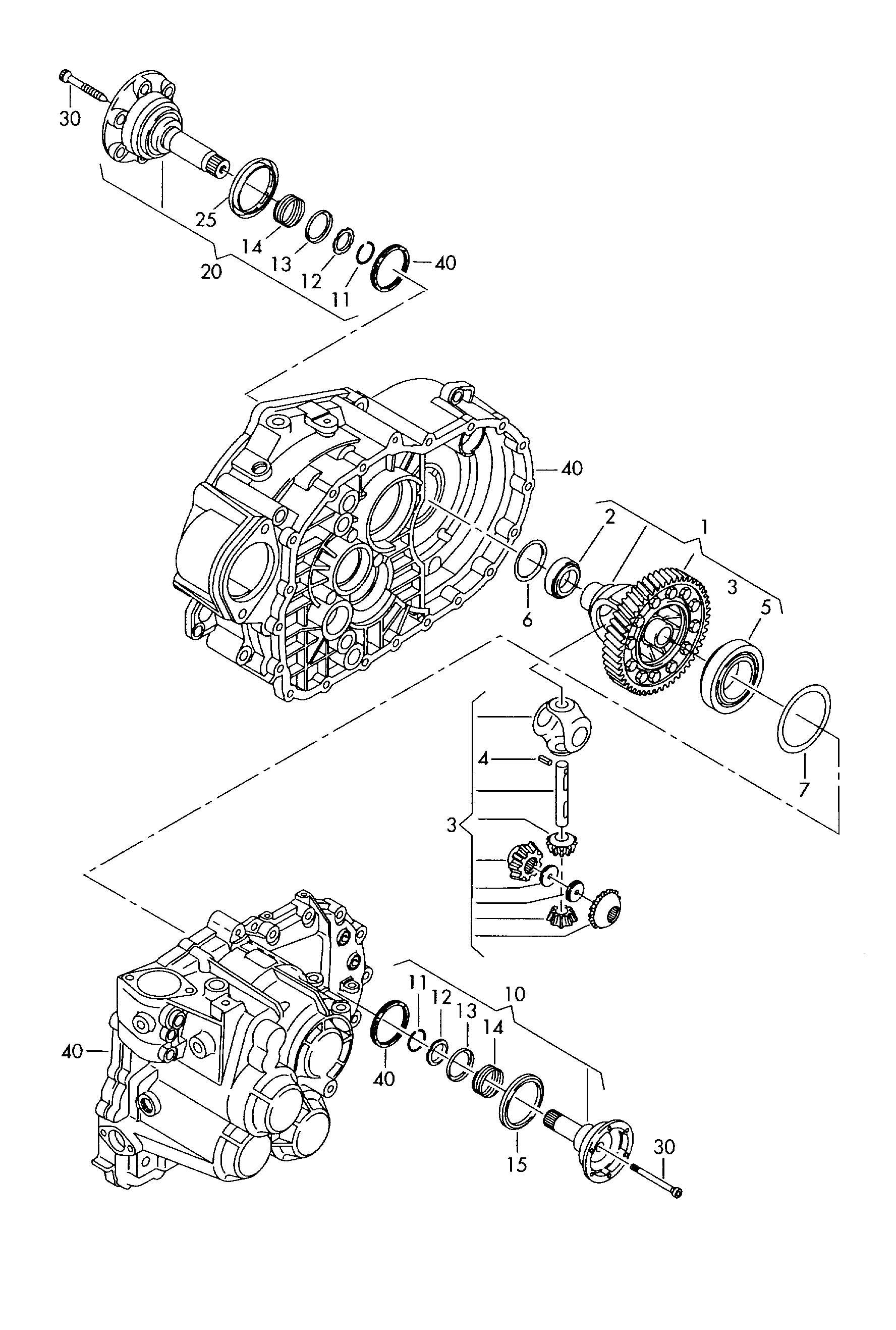 Volkswagen Vw Jetta Differential Flange Shaft 6 Speed