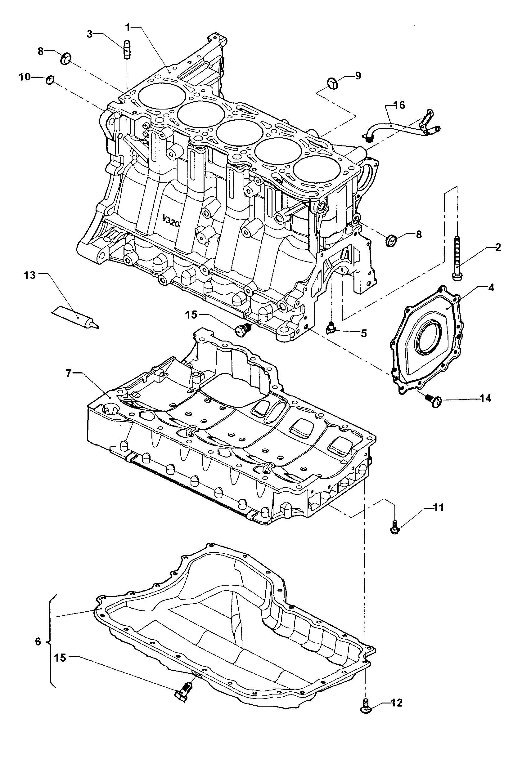 Volkswagen New Beetle Cylinder Block Oil Pan 2 5ltr