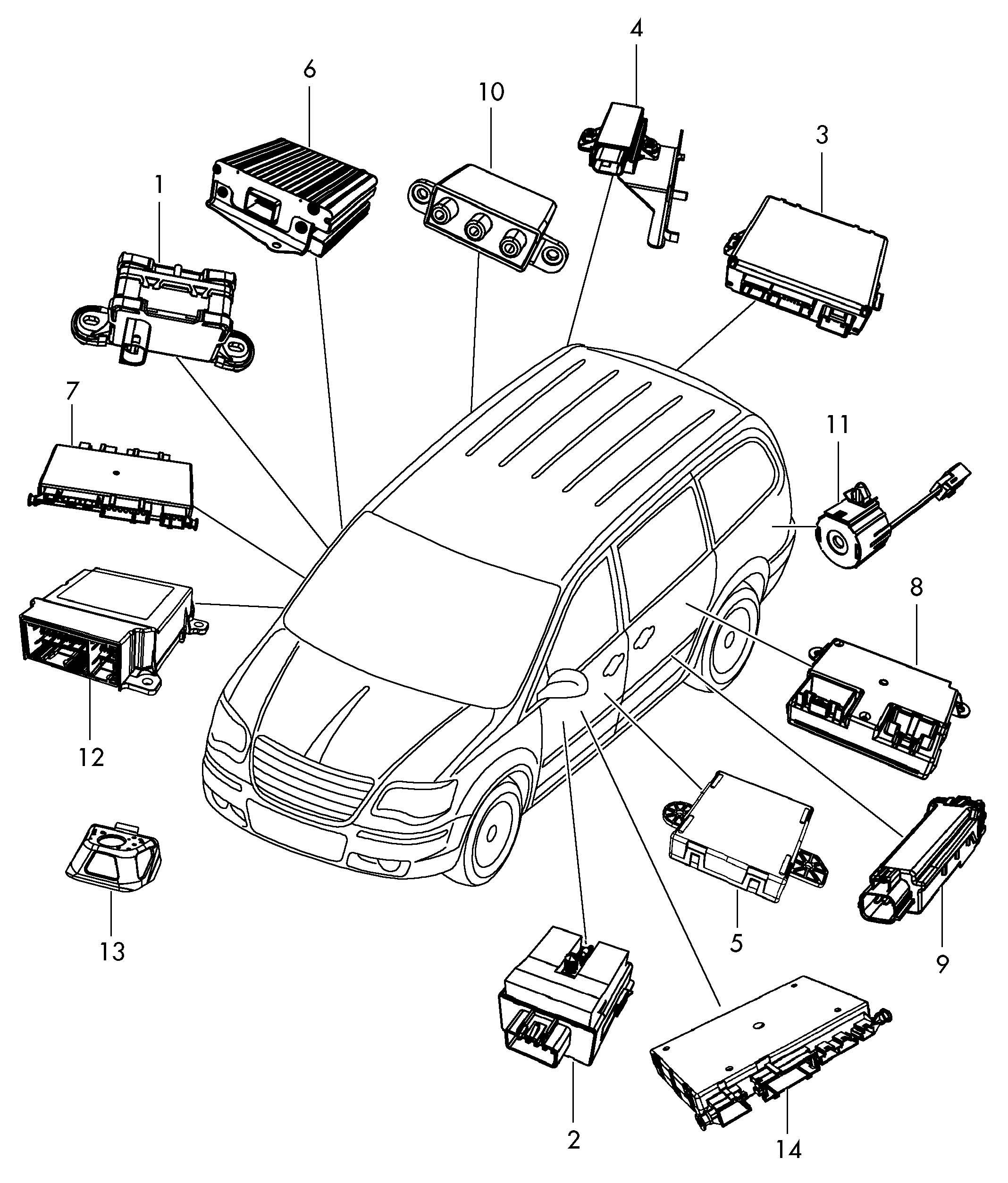 Volkswagen Routan Electronic Control Module Body Shell