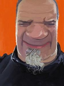 Selfie on Orange - Jim Faris