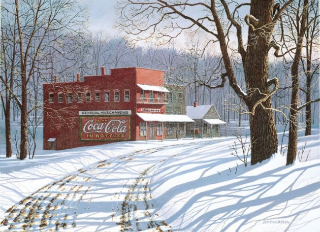 Jim Harrison Coca Cola And Snow