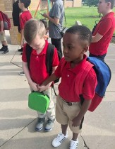 8-Year-Old Reminds Us Of Our Humanity As He Consoles Crying Autistic Classmate On 1st Day Of School