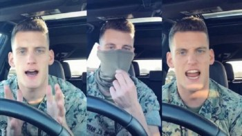 WATCH: 'It's Called A Dress Code KEVIN!' – Hilarious Message From Marine About Face Masks