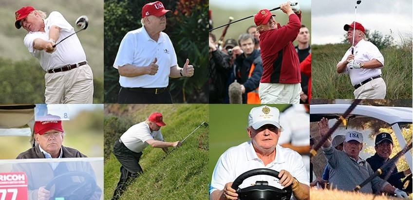 Trump Claims He Golfs Less Than Obama Did - That's ...