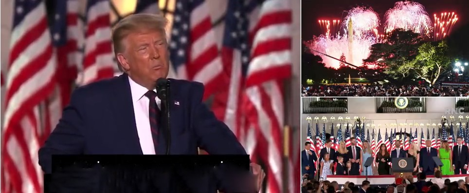 WATCH: Trump Uses White House As Political Prop – Launches Flimsy Attack On Biden
