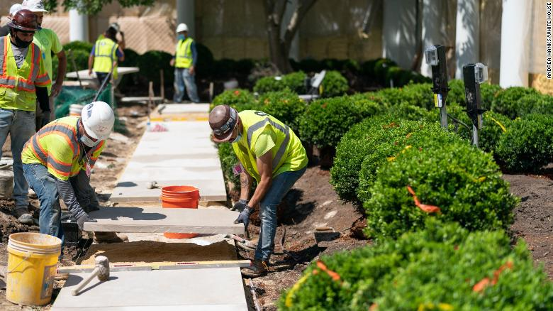 Sod Being Replaced At White House After Republicans Trampled Rose Garden During Convention