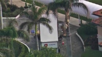 Moving Trucks Arrive At Mar-A-Lago 2 Days Before Trump Arrives