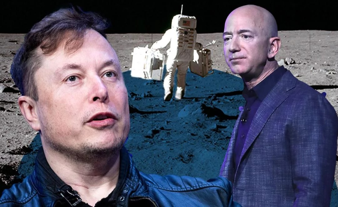 Billionaires Battle To Land On The Moon – Bezos, Musk Take Rivalry To Space