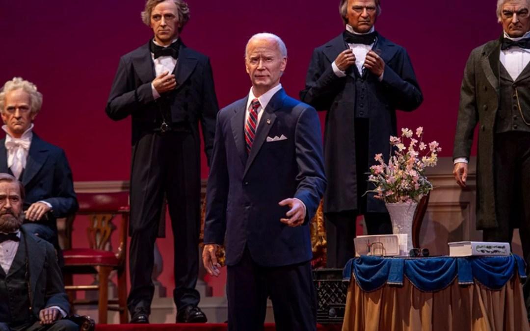 WATCH: Joe Biden Finally Joins The 'Hall Of Presidents' – But No Speech Like Trump