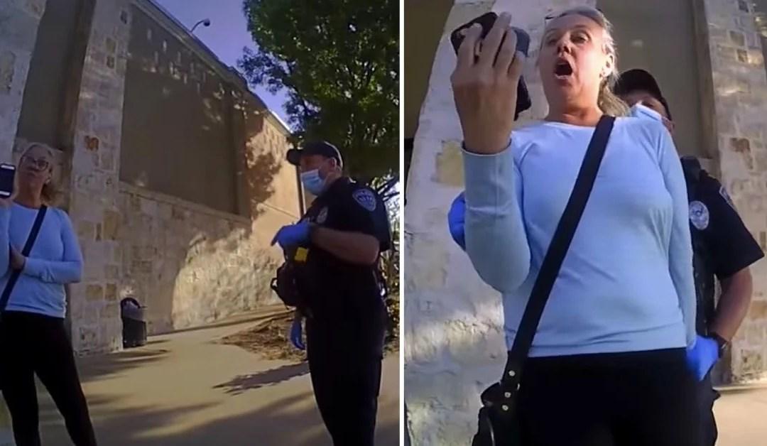 WATCH: Surprise Ending As Maskless 'Christian Karen' Rants At Police