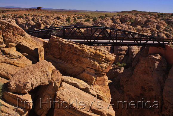 The 1913 Chevlon Canyon Bridge in Arizona