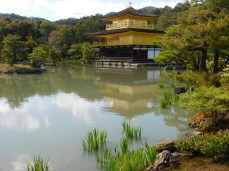 The reflecting pond doubles the beauty of the pavilion.
