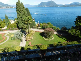 The gardens command a great view of Lake Maggiore.