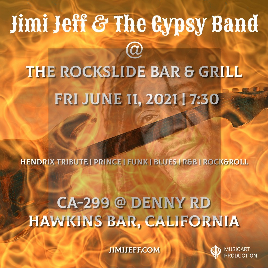 Jimi Jeff & The Gypsy Band at The Rockslide Bar & Grill Fri June 11, 2021