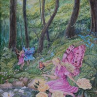 Fairy Painting in style of Shirley Barber.