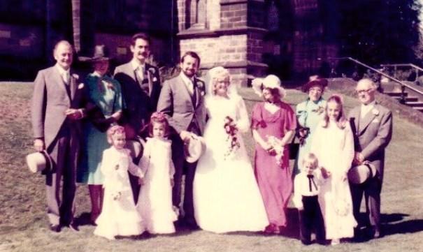R's wedding 1977