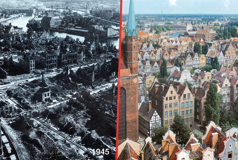 Massive destruction during World War11 with remarkable rebuild