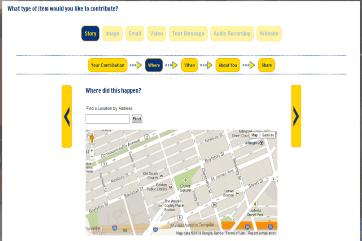 Screenshot of Our Marathon's Contribution Plugin (Source: Our Marathon).