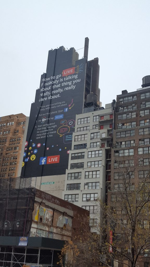 Facebook Live Ad (2016; NYC)