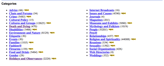 "Yahoo's directory of links for ""Society and Culture"" (June 2002)"