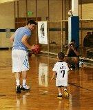 jimmer playing basketball with nephew Jason