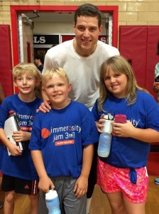 jimmer and kids at camp