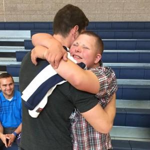 jimmer hugging sweet fan