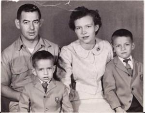 Quito, Ecuador Family Photo circa 1958
