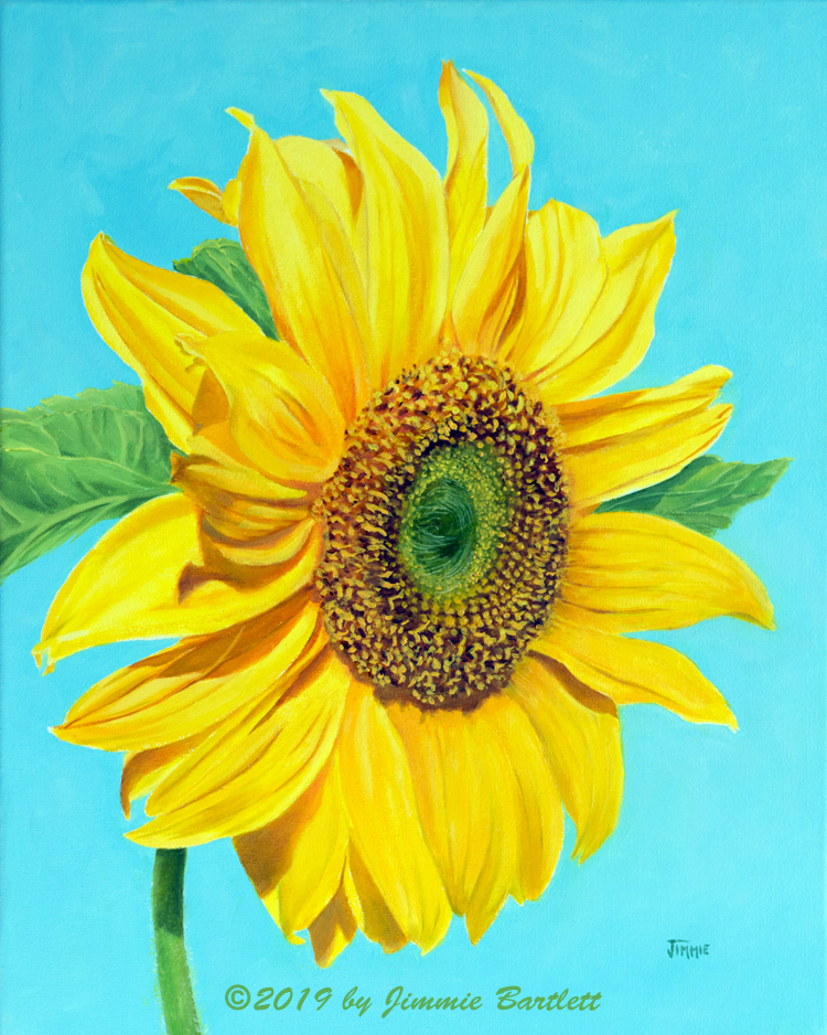 Sunflower Portrait original oil painting