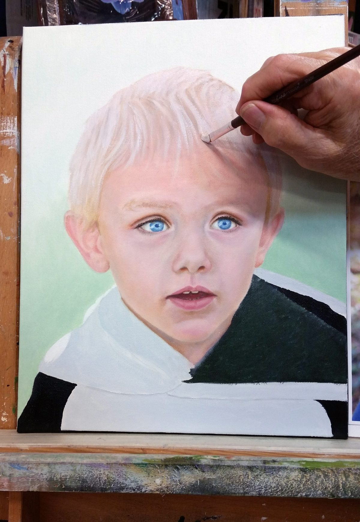 Painting My Great Grandson