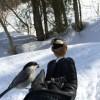 札幌近郊で手乗り野鳥♪^^