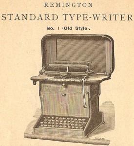 Vieille machine à écrire Remington