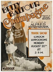 Betty Balfour in Champagne par Alfred Hitchcock
