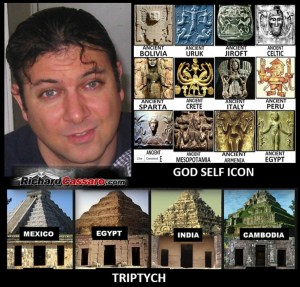 Richard Cassaro With Triptych and God Self Icon