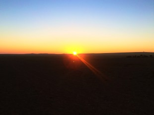 Sunrise in the Gobi