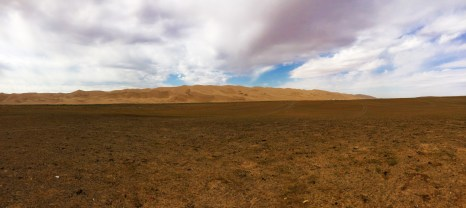 View of the sand dunes from the camp